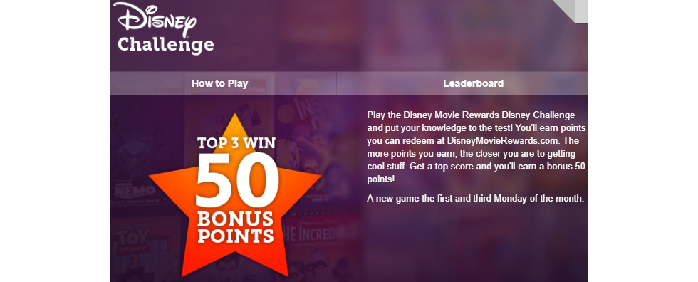 Play One More Disney Challenge for August