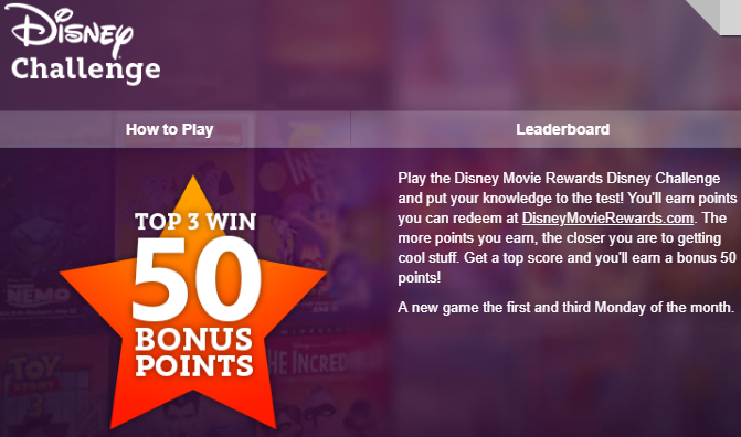 Play the Last Disney Challenge for July