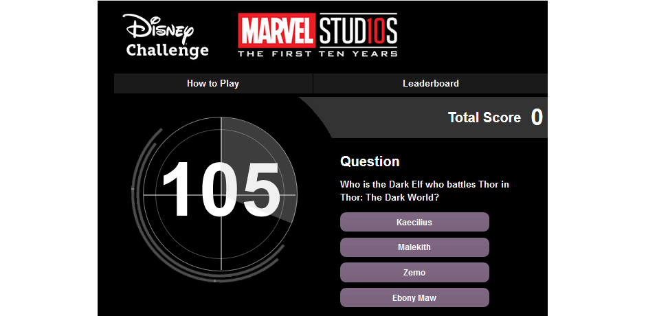 New Marvel Challenge on DMR