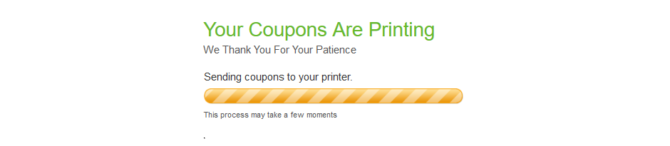 "Dialogue box when coupons are ""printing"" even if you set it to print to a PDF."