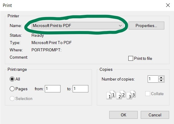 Change your printer settings to to to a PDF instead of wasting ink and paper.