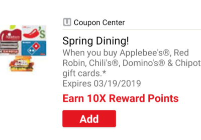 10x Rewards on Select Gift Cards at Safeway