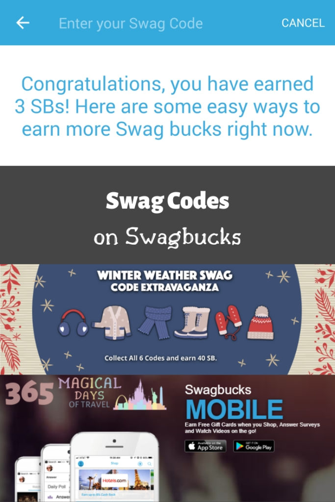 Swag Codes on Swagbucks | 365 Magical Days of Travel