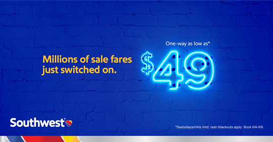 Southwest Switch Sale