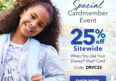 Save 25% at shopDisney Today Only
