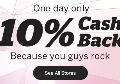 Rakuten's One Day 10% Back Sale