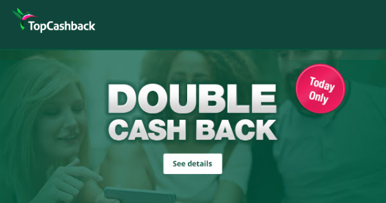 Double Cash Back from TCB Today Only