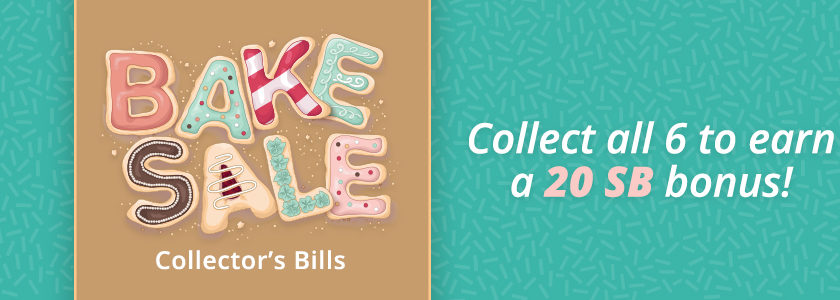 Bake Sale Collector's Bills