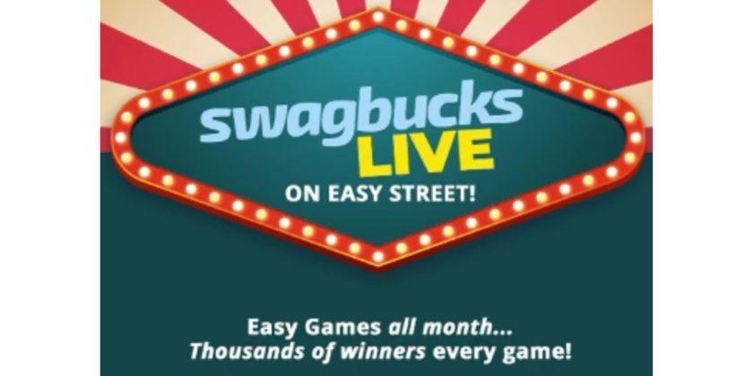 Swagbucks LIVE on Easy Street for September