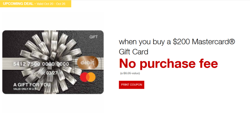 [Expired] Fee-Free Mastercard Gift Cards at Staples