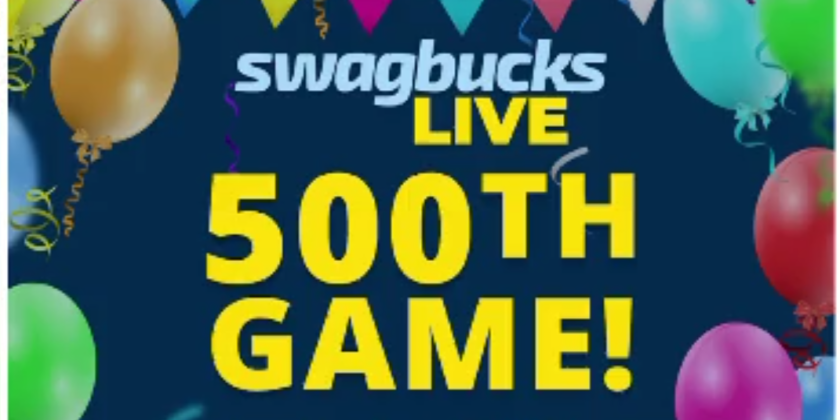 Play Swagbucks LIVE's 500th Game