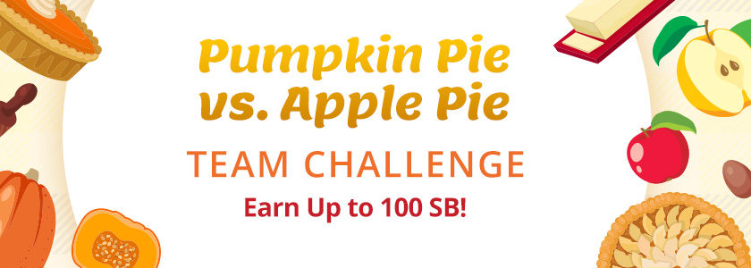 Pumpkin Pie vs Apple Pie Team Challenge