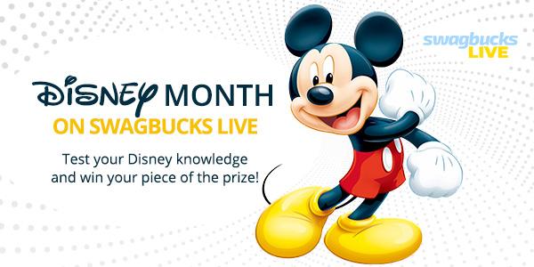 Disney Month on Swagbucks LIVE!