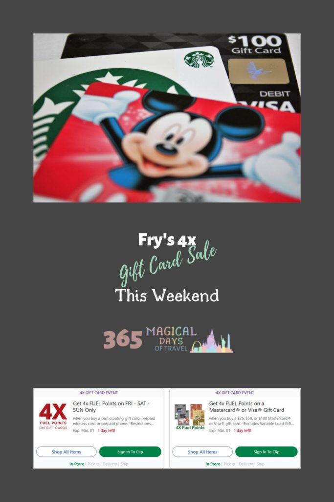 Fry's 4x Gift Card Sale This Weekend