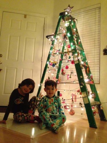 2013 Ladder Tree Decorating