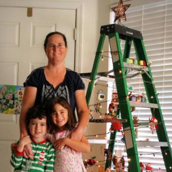 2014 Ladder Tree Decorating