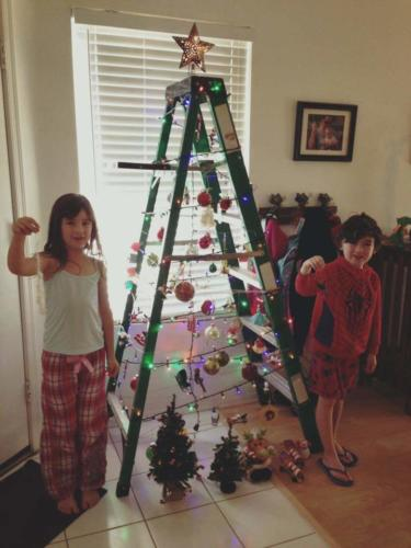 2015 Ladder Tree Decorating