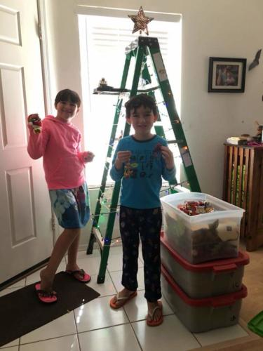 2017 Ladder Tree Decorating