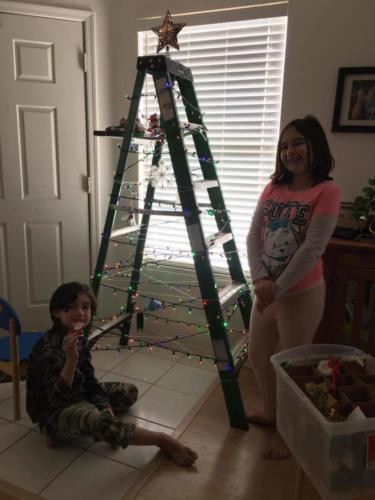 2018 Ladder Tree Decorating