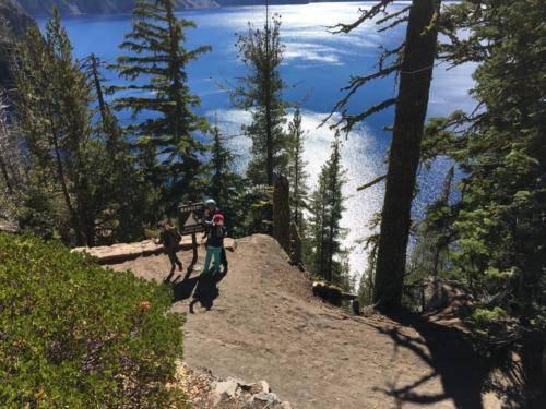 Danger Falling Rocks at Crater Lake