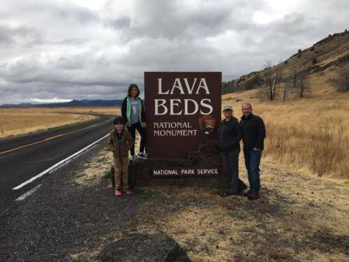 Lava Beds sign