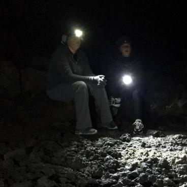 Lights out in Golden Dome at Lava Beds