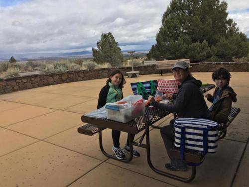Picnic Lunch at Lava Beds