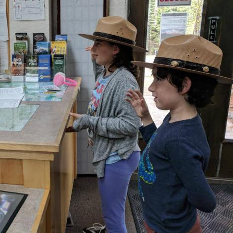 Taking the Junior Ranger Pledge Lassen