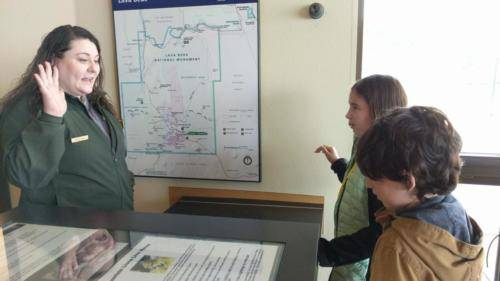 Taking the pledge at Lava Beds